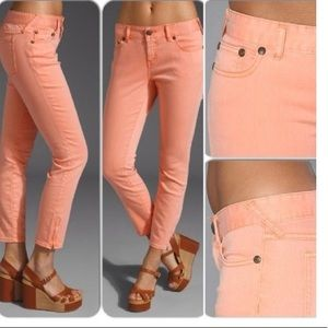 Free People Cropped Jeans in Apricot